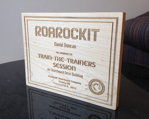 Train-The-Trainers certificate