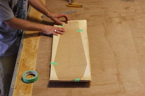 Trac d coupe et finition d un skateboard roarockit blog for Decoupe angle plinthe bois