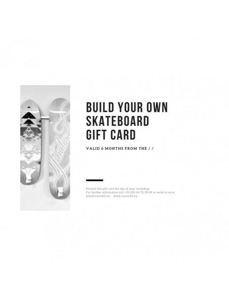 Custom Board building workshop gift card