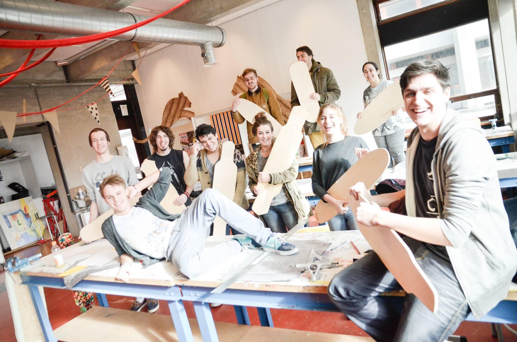Build Your Own Skateboard Workshop – Grafisch Lyceum, Rotterdam