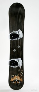 SnowBoard Marqueterie Racoon