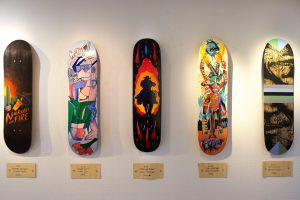 decorated boards by Danish Artists