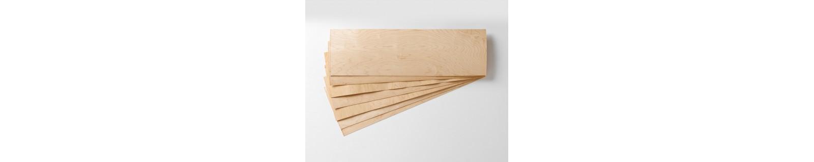 Ahornfurnier in Street Deck Größe.