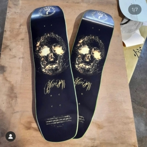 Looking for an awesome handmade custom board 👀 ⠀ Talented board builder and artist @lioukouma offers just what you need 🔥 ⠀ From custom shapes to incredible graphics, if you haven't already check him out!⠀ ⠀ #boardbuilder #diyskateboard #boardart #lioukoumaskateboards #custom #handmade #customboard #dreamitmakeitrideit
